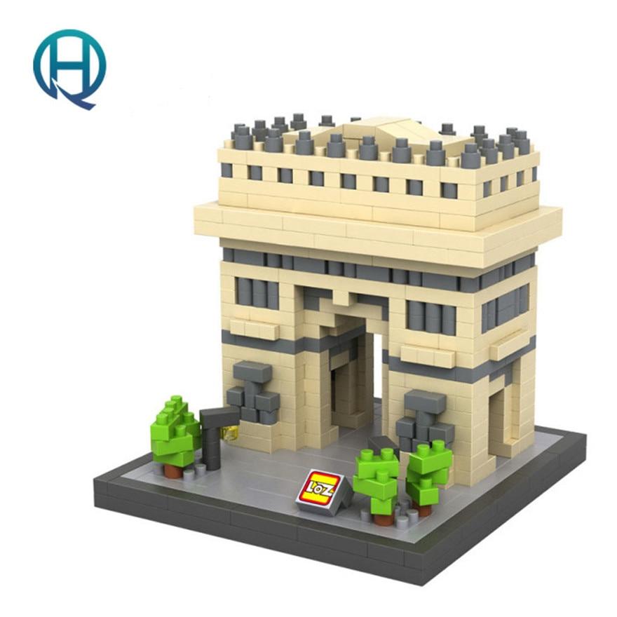 Mini Nano Blocks Arc de Triomphe LOZ Building Blocks Action Figure Diamond Blocks Compatible Legoelieds 9377<br><br>Aliexpress