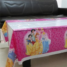Happy Baby Shower Kids Favors Princess Cartoon Tablecover Birthday Party Events Decoration Maps Supplies Tablecloth 108*180cm