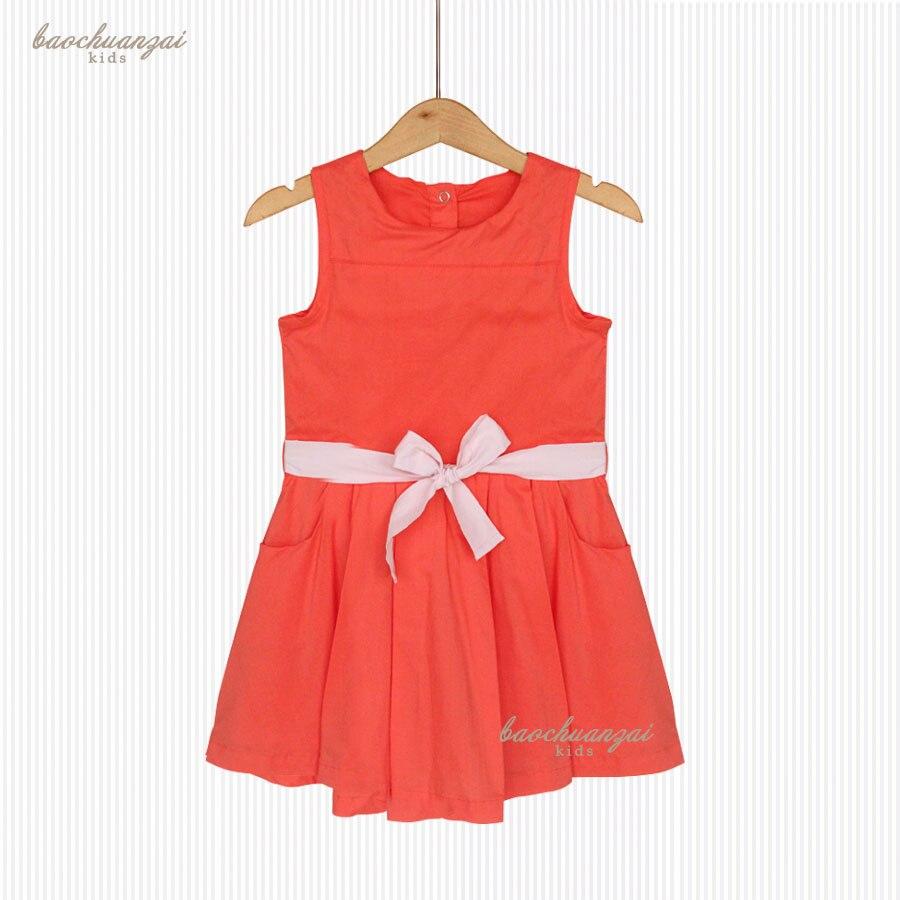 Princess Dress Vestido Infantil 2017 Summer Girls Party Dress Children bowknot  Dresses Kids Clothes<br>