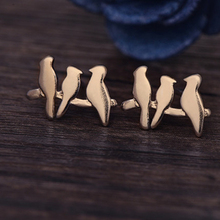 Lovely Wild Origami Crane Stud Earrings For Women Graceful Flying Blue Birds Party Earrings e09