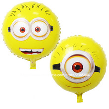 10pcs/lot air balls Minions balloons Despicable Me 2 balon helium minion party decoration ballon