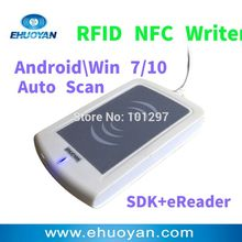 Rfid NFC Reader Writer 13.56MHZ USB ER302 Android +Auto Scan+ SDK+Software eReader +2 Tags