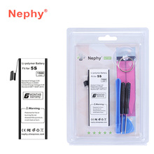 2017 New Nephy Brand Original Battery For iPhone 5S 5C 5GS 1560mAh Top Quality Phone Batteries Batteria With Machine Tools Kit