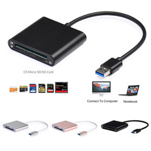 Aluminum USB 3.0 Multi-in-1 CF/SD/TF Micro SD/SDMD/MMC Memory Card Reader TF Card Reader Adapter Mac OS Pro PC Laptop Computer
