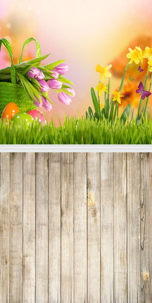 1.5X3 m Customize vinyl photography backdrop newborn easter wood computer print background for photo studio F-091<br>