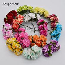 36Pcs 3cm Paper Chrysanthemum Artificial Flower Bouquet For Home Garden Wedding Decoration DIY Wreaths Gift Craft Supplies 8Z