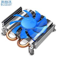 Ultra-thin 27mm, Pure Copper base, 4pin PWM 80mm fan, 2 heatpipe, for HTPC & 1U mini case, CPU cooling fan, PcCooler S85(China)