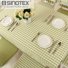 4 Color Lattice Party Table Cover Cloth Plaid Tablecloth Yarn Dyed Plain Tablecloths Home Dining Room 1pcs/lot(China)