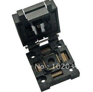 100% NEW  FPQ-44-0.8 QFP44 TQFP44 IC Test Socket / Programmer Adapter / Burn-in Socket  FPQ-44-0.8-19<br>