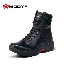 Modyf Men winter boots top quality Military boots wearproof motorbike shoes Fashion outdoor shoes nice look winter warm footwear(China)