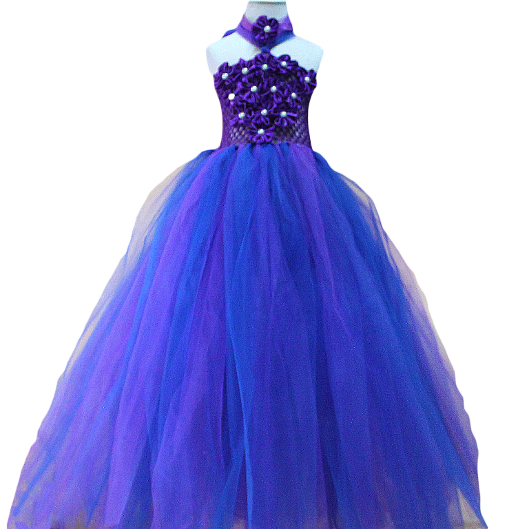 purple royal blue tutu dress baby dress toddler birthday  wedding tutu  dress  Baby Girls Princess Party Dresses For Photography<br><br>Aliexpress