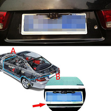 Waterproof Car License Plate Frame Rear View Camera 648P HD Vehicle Back Front Side View 140 Color 7 Infrared LED Night Vision(China)