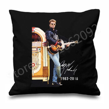 Hot Cool George Michael Throw Pillow Case George Michael Autography Cushion Cover Hipster Hip Hop Gift Tribute In Memoriam Decor