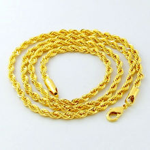Buy Luxury 24K Gold Twisted Chain Men Women Jewelry Iced Jewelry 2016 Cuban Punk Style 3MM 4MM 5MM Full Size Choice for $4.67 in AliExpress store