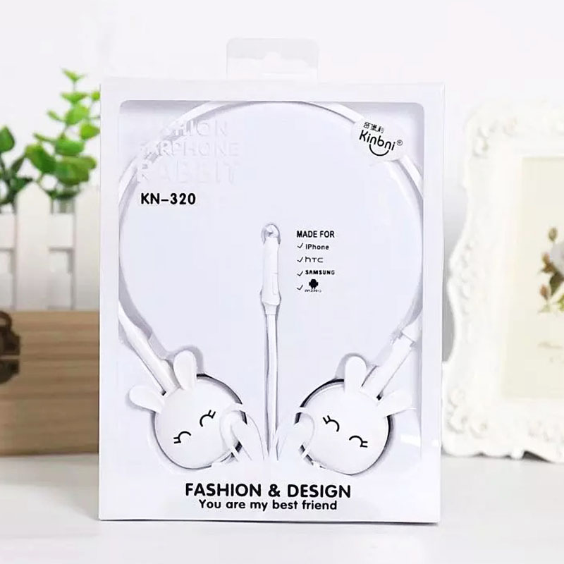Wire Headphones Cute Cartoon Rabbit Candy Colour 3.5mm Stereo Headphone with Mic for Samsung Xiaomi mp3 Kids Student Birthday Gifts (6)
