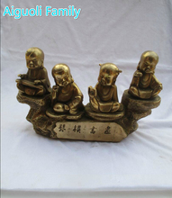 Wedding Decorations/Art Chinese Brass Carved 4 Child Big Statue /Home Decoration Metal Sculpture ,Best Festival Gift !!!(China)