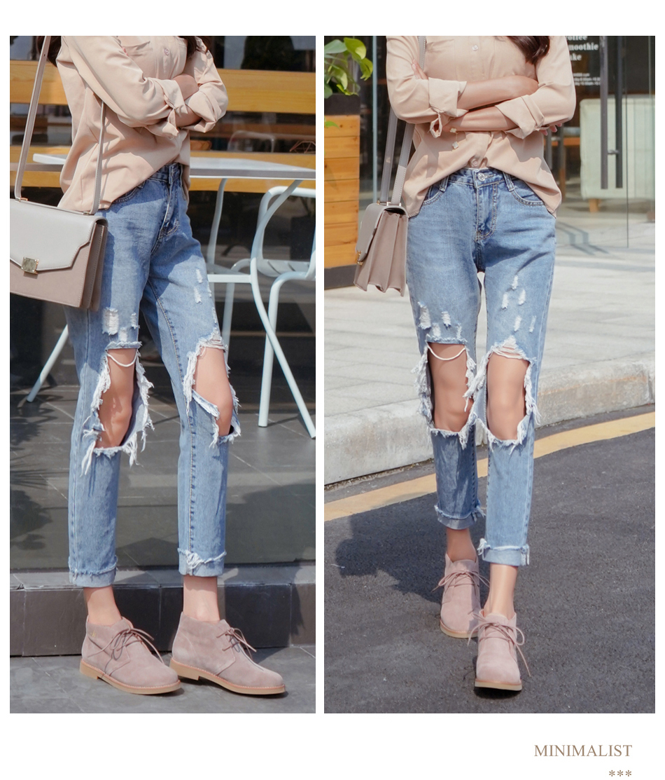 Donna-in Ankle Boots for Women Martin Boots Genuine Leather Shoes Flat Casual Booties Woman 2019 Spring Lace up Plus Size Ladies (1)