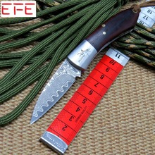 EFE EF86 Damascus folding Knife Damascus Steel blade knife Outdoor Tool Hunting camping Knife pocket knife hand EDC tool MMMMMMM(China)