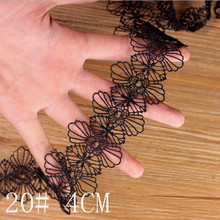 3 Yards Black Lace Trim 10 Models Lace Applique Polyester for Clothes Home Textiles Apparel Sewing Lace Fabric(China)