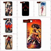 Art Women Sexy Wonder Woman Cover case for iphone 4 4s 5 5s 5c 6 6s plus samsung galaxy S3 S4 mini S5 S6 Note 2 3 4 DE1032(China)