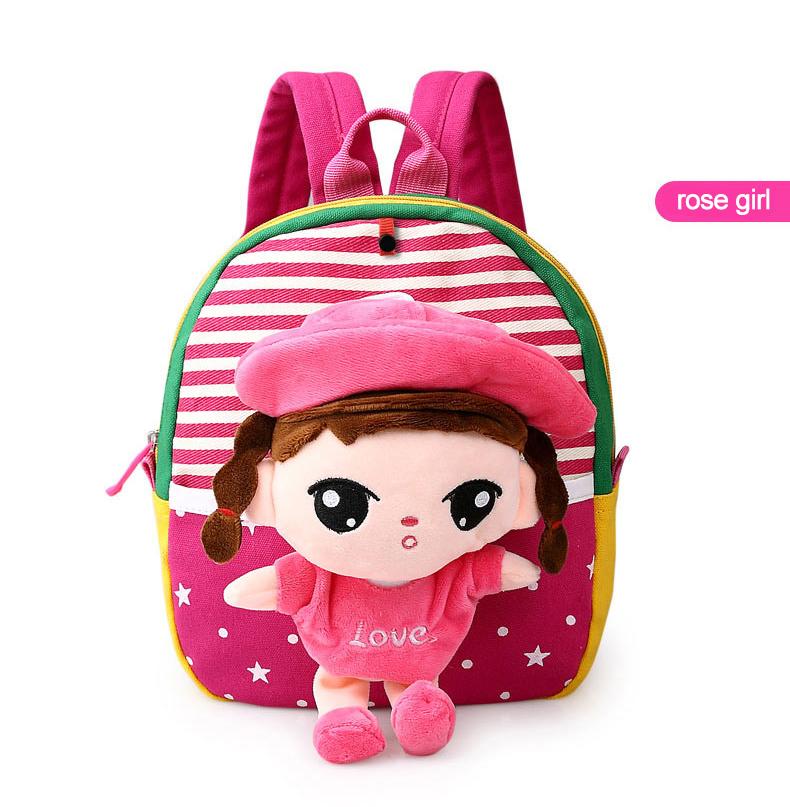 Korean Style Children Toddler Cartoon Stuffed Plush Backpacks baby girls boys cute toys schoolbag backpack (20)