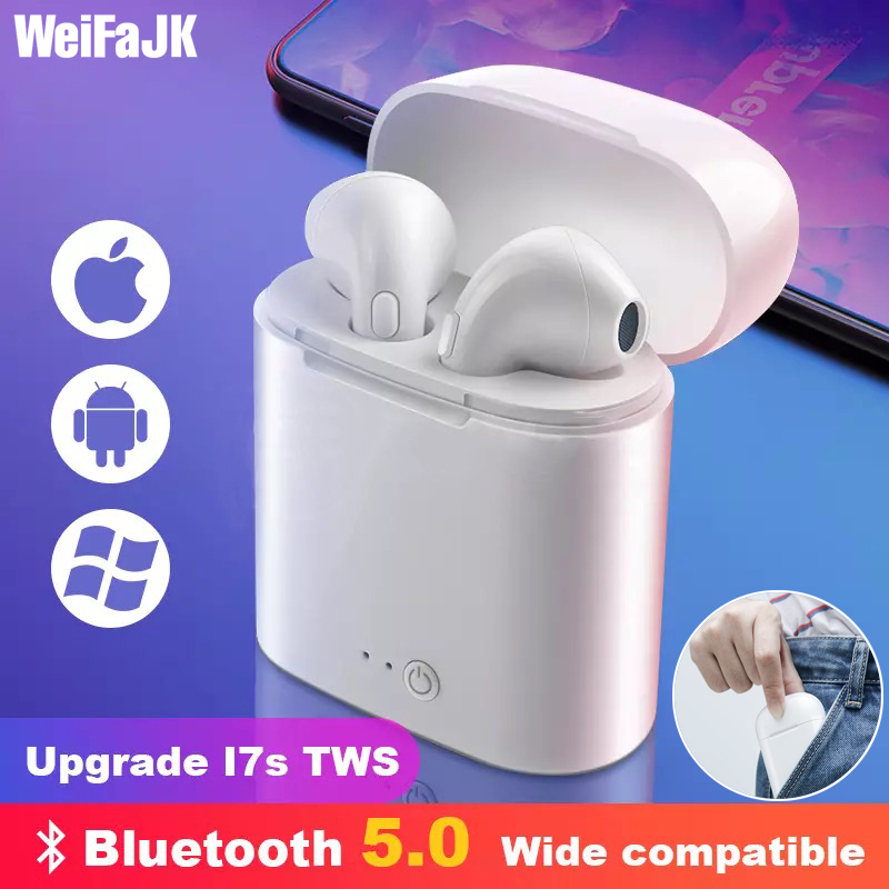 i7s TWS Wireless Headphones Mini Stereo Earbud Bluetooth Earphone For iPhone XiaoMi All Smart Phone air pods With Charging Box(China)