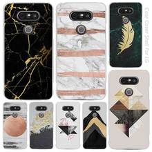 marble tri black gold hellip Clear Cell Phone Case Cover Shell for LG K3 K4 K8 K10 G3 G4 G5 G6 2017 V10 V20 K5 stylus3(China)