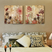 Modern floral canvas art dandelion silhouette digital inkjet bird bedroom canvas pictures for living room decoracion hogar