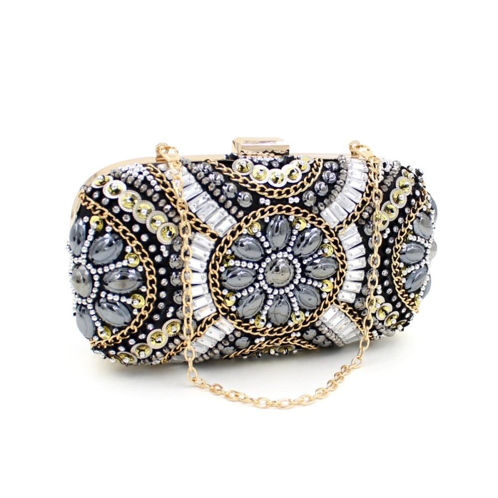 Fashion Day Clutch Party Bags Hand-beaded Diamond Evening Bag Dress Clutches Ladies Luxury Rhinestone Crystal Clutch Pochette<br><br>Aliexpress