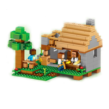 LELE My World Minecraft The Village Shops Model kits action anime figures Building Blocks Bricks fun Toy For Children gift Lepin