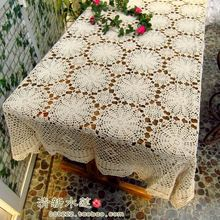 2014 new design French fashion crochet dining lace able cloth 100% cotton  table cover for home decor table cover for wedding