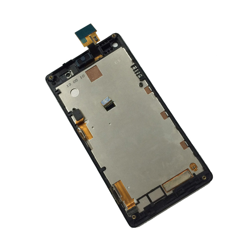 Black Sony Xperia L S36h S36 c2105 c2104 Touch Screen Digitizer Glass + LCD Display Panel Monitor Assembly Frame