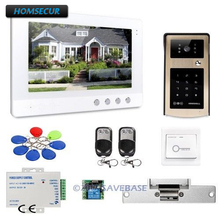 "HOMSECUR 10.1"" Wired Video Door Intercom System Electric Lock Supported With Ultra-large Screen Monitor for Home Security(China)"