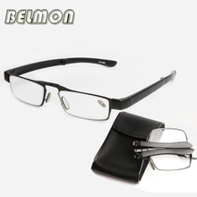 Mini Folding Magnetic Reading Glasses Slim Foldable Diopter Glasses Presbyopic Eyeglasses +1.0+1.5+2.0+2.5+3.0+3.5+4.0 RS137(China)