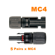 Cool ! MC4 Connector MC4 Solar Connector 5 Pairs PV Solar Panel Connectors Male & Female IP67 TUV 1000Vdc UL 600Vdc