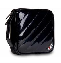 Bubm pu waterproof cd case , 32pcs cd bag storage bag  black color 150*150*45MM