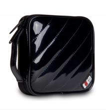 Bubm pu waterproof cd case , 32pcs cd bag storage bag black color 150*150*45MM(China)