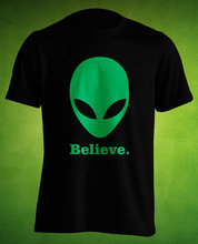 Believe in Aliens Alien Ufo Tshirt T shirt Women's Clothing Mens, Womens Ladies, Guys Youth, Kids t shirt funny Alien believer(China)