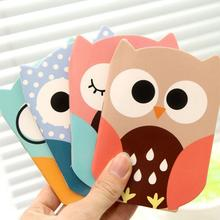 1 Pieces Korean Cartoon Creative Stationery Notepad Office Supplies School Cute Cartoon Owl Filofax Notebook Diary Students