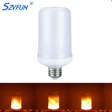 Buy Szvfun Led Flame Lamp E27 E26 Led Flame Effect Light Bulb smd 2835 7W 110V 220V Emulation Flicker Flame Bulb Vintage Decorative for $8.03 in AliExpress store