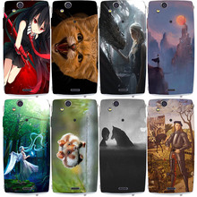 Cute Cat Animal Anime Colorful Painting Phone Case For Sony Ericsson X12 LT15i Xperia Arc S LT18i painting case for sony lt18i(China)