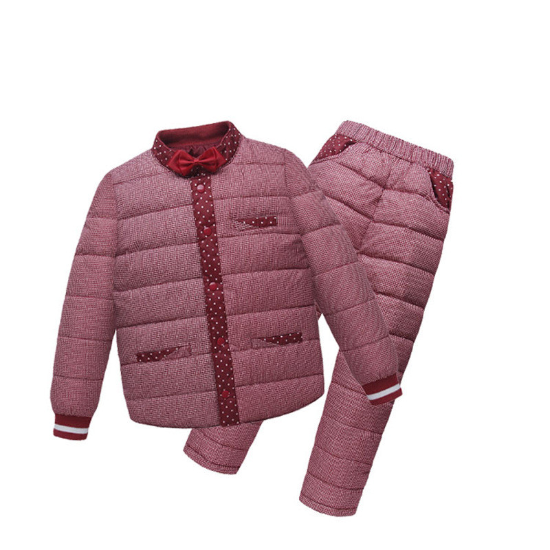Boys Winter Sportswear Set Children Warm Coat Down Jacket+Trousers 2PCS Jacket Ski Suit For Children Boys  Winter Clothes<br>