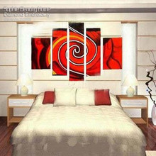 Diy Diamond Painting Cross Stitch Diamond Mosaic Handmade Embroidery Red Whirlpools Cloud Multi Picture Needlework Drawing Kits