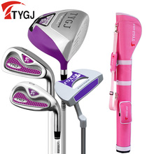 Brand TTYGJ 4-pieces Half Golf Clubs Set with Bag Women's Leaner Beginner golf clubs branded golf irons set(China)