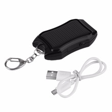 Kebidu Mini Portable 5V 1500mAh Solar Power Bank Mobile Power Supply Energy USB Charger Battery For Emergency With Keychain