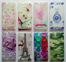 New Arrival Back Covers For Sony Xperia C3 d2533 d2502 S55t Case Hard PC Plastic Back Case Many Patterns Choose Free Gifts(China)