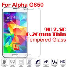 0.26mm 2.5D 9H Tempered Temper Glass Phone Cell Mobile Front Film Screen Protector Guard For Samsung Galaxy Galaxi Alpha G850