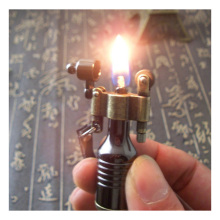 Vintage Metal Flame Kerosene Lighters Retro Torch Lighter Novelty Gadget Military Fire Gift Key Accessories With Box(China)