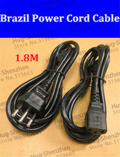 1.8m Brazil power cord cable line good AC power cord 3X0.75 --2pcs/lot