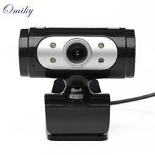 Omiky Advanced  4 LED USB 2.0 HD Webcam Camera Web Cam With Microphone Mic For PC Laptop 2017 hot sales tablets 1PC
